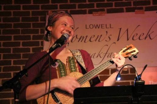 Lowell Women's Week open mic, 2014.