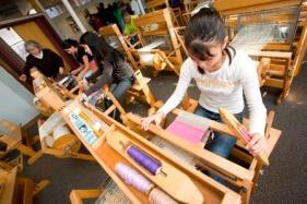 Students at weaving studio 3 - TIHC -c ompr